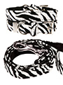 Zebra Print Fabric Collar & Lead Set
