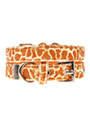 Giraffe Print Fabric Collar & Lead Set