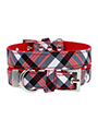 Red & White Plaid Fabric Collar