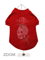 Skull & Rose GlamourGlitz Dog T-Shirt