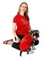 Love Heart GlamourGlitz Dog T-Shirt