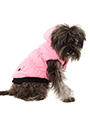 Pink Quilted Coat with Hood