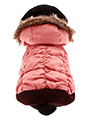 Luxury Pink Quilted Ski Parka
