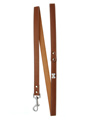 Brown Leather Diamante Lead