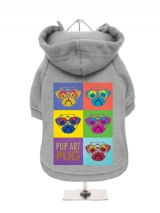 ''Pup Art: PUG'' Fleece-Lined Dog Hoodie / Sweatshirt
