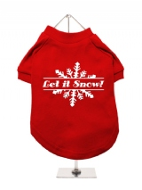 ''Christmas: Let It Snow'' Dog T-Shirt