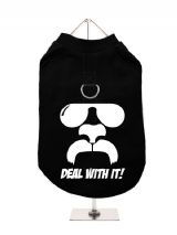 ''Deal With It!'' Harness-Lined Dog T-Shirt