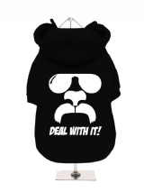 ''Deal With It!'' Fleece-Lined Dog Hoodie / Sweatshirt