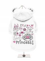 ''Pretty Princess'' Fleece-Lined Dog Hoodie / Sweatshirt