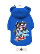 ''Cool And Know It'' Fleece-Lined Dog Hoodie / Sweatshirt