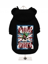 ''UK Punk Rock'' Fleece-Lined Dog Hoodie / Sweatshirt