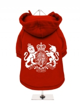 ''British Coat of Arms'' Fleece-Lined Dog Hoodie / Sweatshirt