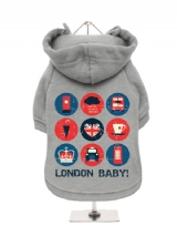 ''London Baby'' Fleece-Lined Dog Hoodie / Sweatshirt
