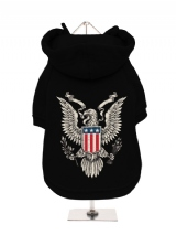 ''American Eagle'' Fleece-Lined Dog Hoodie / Sweatshirt