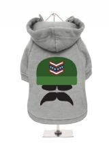 ''Sergeant Badass'' Fleece-Lined Dog Hoodie / Sweatshirt