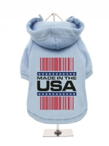 ''Made in the USA #1'' Fleece-Lined Dog Hoodie / Sweatshirt