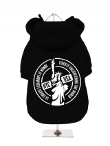 ''NYC USA'' Fleece-Lined Dog Hoodie / Sweatshirt