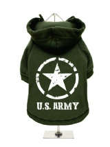 ''U.S. Army'' Fleece-Lined Dog Hoodie / Sweatshirt