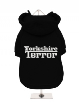 ''Yorkshire Terror'' Fleece-Lined Dog Hoodie / Sweatshirt