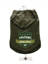 ''Military Armed Forces'' Dog Hoodie / T-Shirt