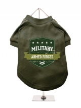 ''Military Armed Forces'' Dog T-Shirt