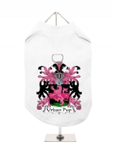 ''Family Crest / Coat of Arms'' Harness-Lined Dog T-Shirt