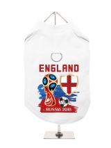 ''World Cup 2018: England'' Harness-Lined Dog T-Shirt
