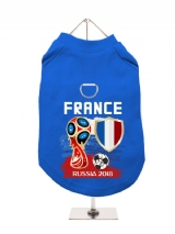 ''World Cup 2018: France'' Harness-Lined Dog T-Shirt