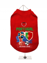 ''World Cup 2018: Portugal'' Harness-Lined Dog T-Shirt