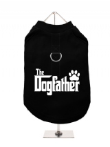 ''The Dogfather'' Harness-Lined Dog T-Shirt