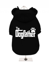 ''The Dogfather'' Fleece-Lined Dog Hoodie / Sweatshirt