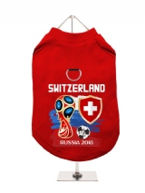 ''World Cup 2018: Switzerland'' Harness-Lined Dog T-Shirt