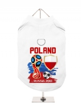 ''World Cup 2018: Poland'' Harness-Lined Dog T-Shirt