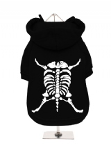 ''Halloween: Dog Skeleton'' Fleece-Lined Sweatshirt