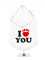 ''I Love You'' Dog Hoodie / T-Shirt