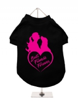 ''Best Friends Forever Heart'' Dog T-Shirt