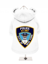 ''NYPD K9 Unit'' Fleece-Lined Dog Hoodie / Sweatshirt
