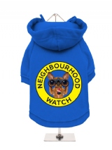 ''Neighbourhood Watch'' Fleece-Lined Dog Hoodie / Sweatshirt
