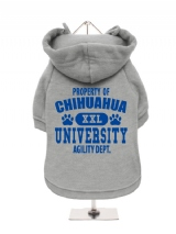 ''Property Of Chihuahua University'' Fleece-Lined Dog Hoodie / Sweatshirt