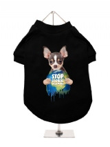 ''Stop Global Warming'' Dog T-Shirt