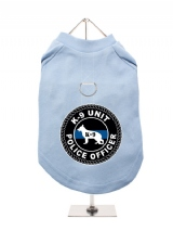 ''K9 Unit Police Officer'' Harness-Lined Dog T-Shirt