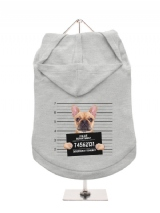 ''Police Mugshot - French Bulldog'' Dog Hoodie / T-Shirt