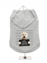 ''Police Mugshot - West Highland Terrier'' Dog Hoodie / T-Shirt