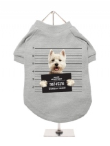 ''Police Mugshot - West Highland Terrier'' Dog T-Shirt
