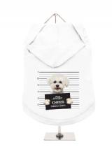 ''Police Mugshot - Bichon Friese'' Dog Hoodie / T-Shirt