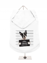 ''Police Mugshot - Boston Terrier'' Dog Hoodie / T-Shirt