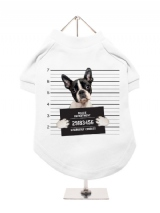 ''Police Mugshot - Boston Terrier'' Dog T-Shirt
