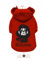 ''Viva la Revolución'' Fleece-Lined Dog Hoodie / Sweatshirt