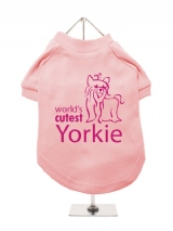 ''Worlds Cutest Yorkie'' Dog T-Shirt