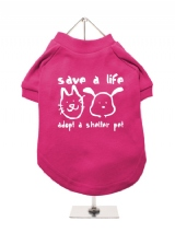 ''Save A Life, Adopt A Shelter Pet'' Dog T-Shirt